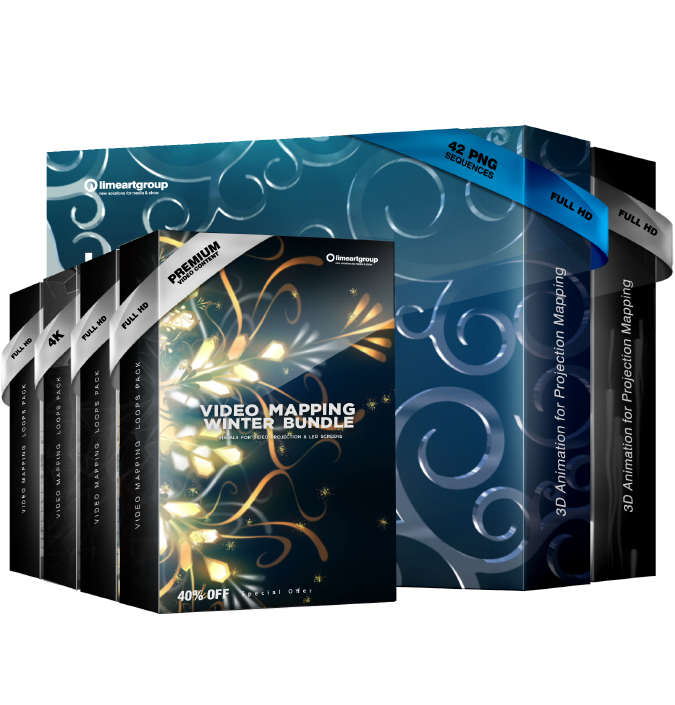 Video Mapping Winter Bundle