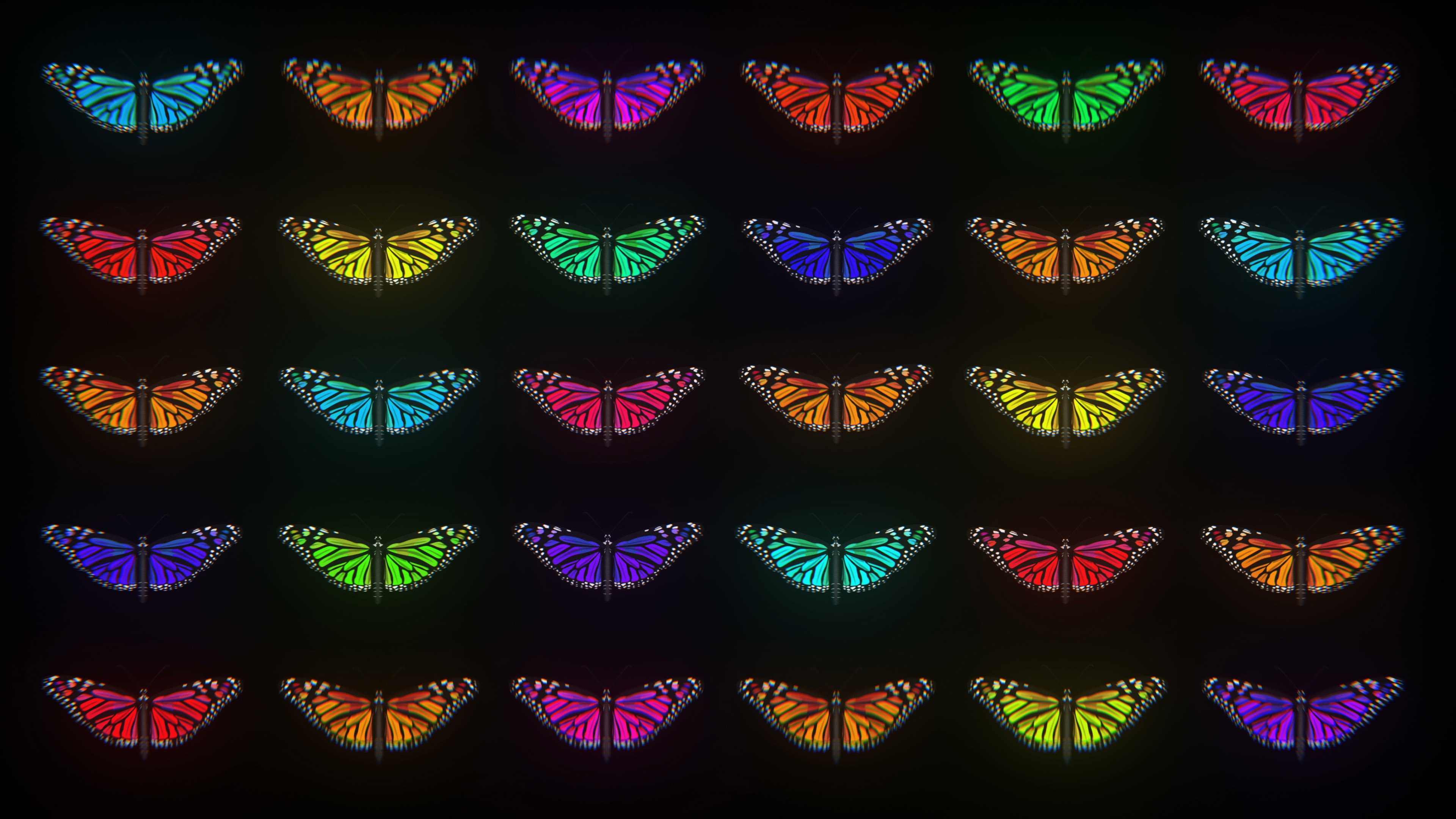 Butterfly motion background