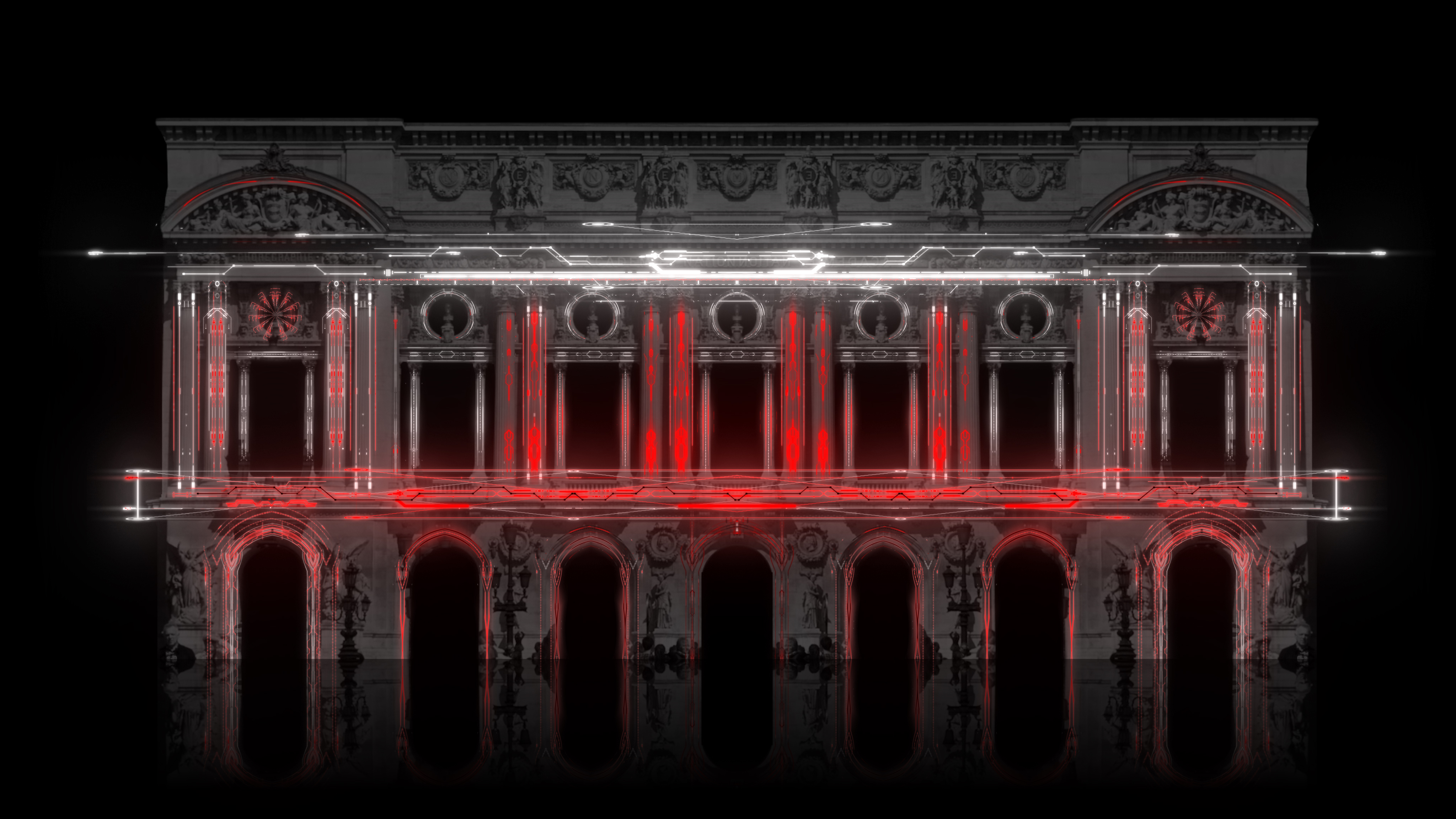 Artificially intelligent Architecture Projection Mapping