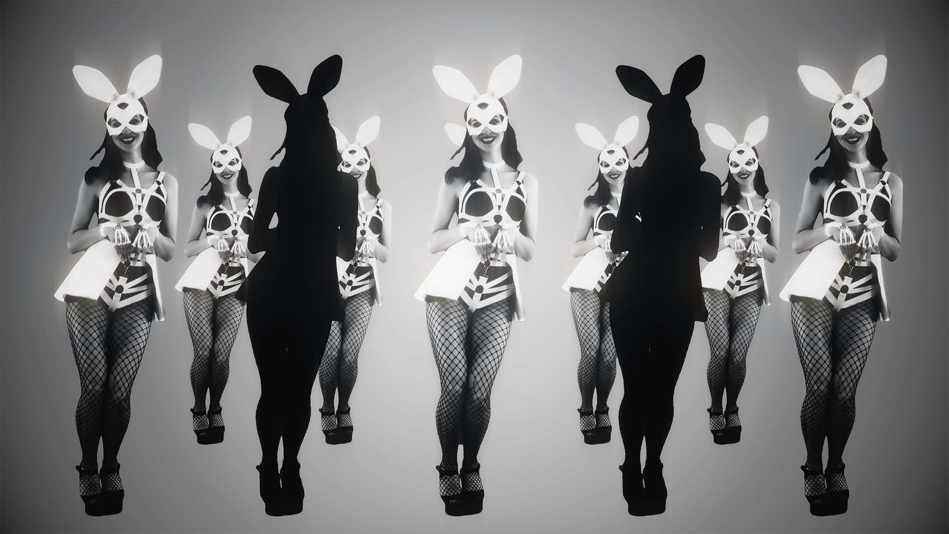 Bunny_Dancing_Girls_On_Black_Motion_Background_VJ_Loop