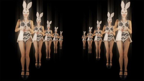 Bunny dancing go go girls video footage