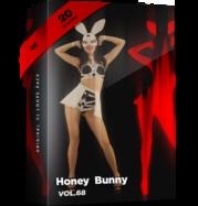 Honey Bunny vj loops go go girl