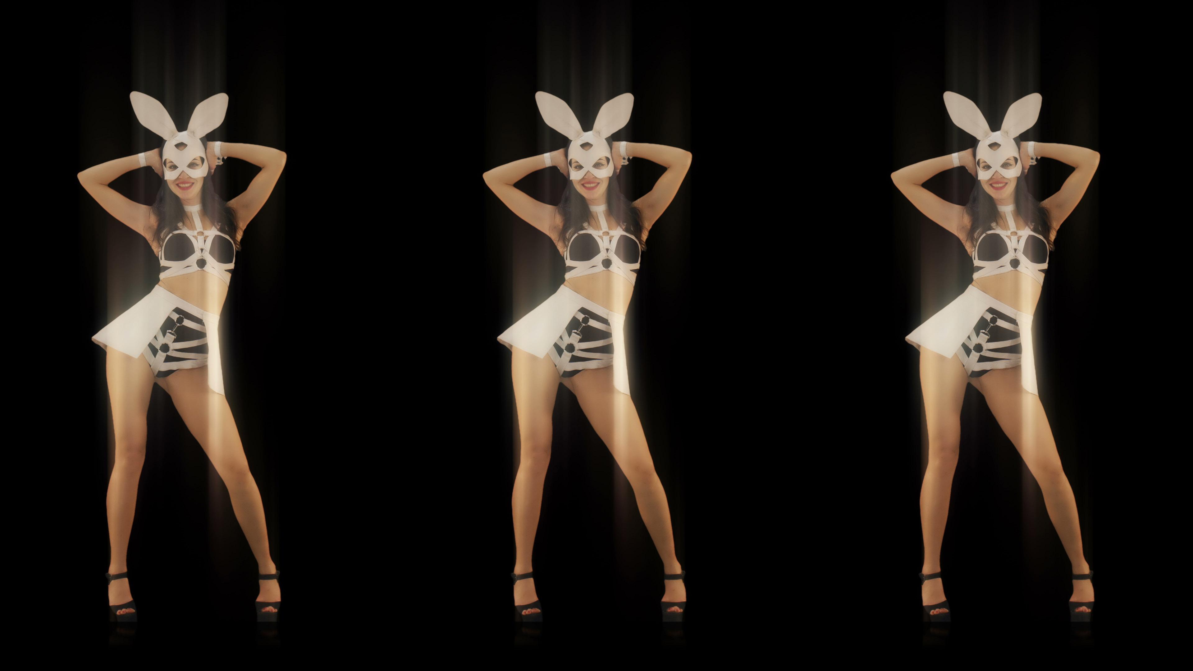Rabhit_Bunny_Girls_Go_Go_Dancing_Vj_Loop_Video_Art