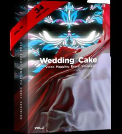 Video Mapping Wedding cake
