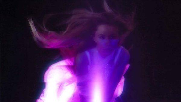 glitch vj motion background girl woman video