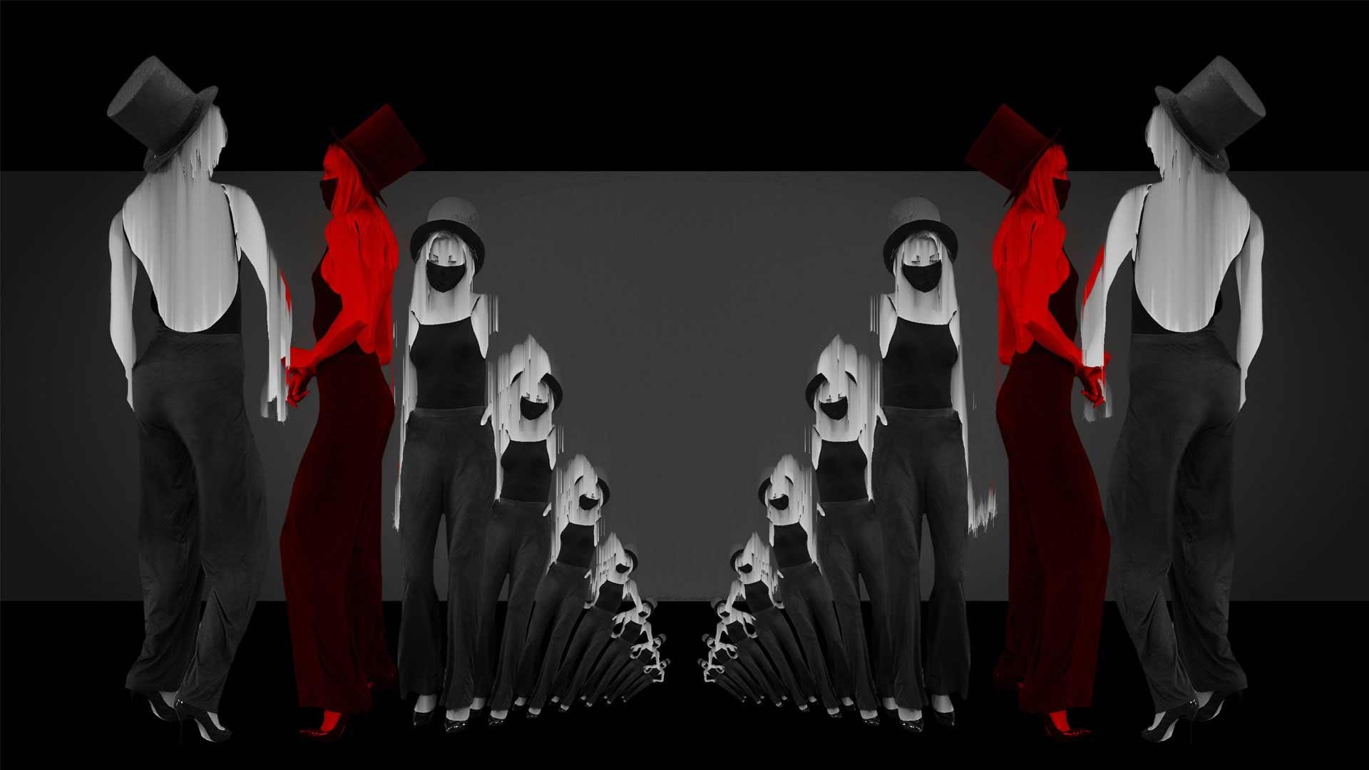 covid 19 video footage dancing girl