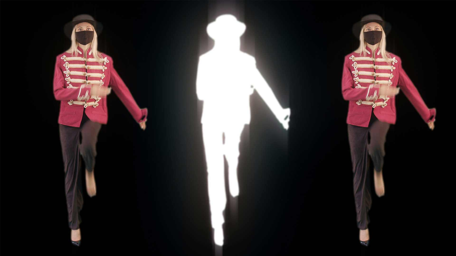 covid 19 video footage marching woman Corona Virus