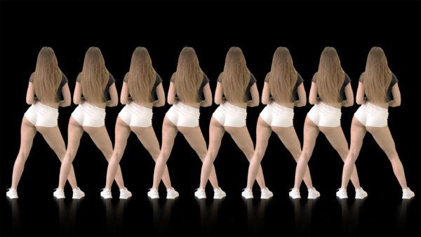 twerk dance girl vj loop