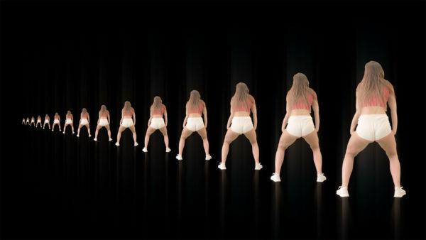 twerk twerking ass girl video footage 4K