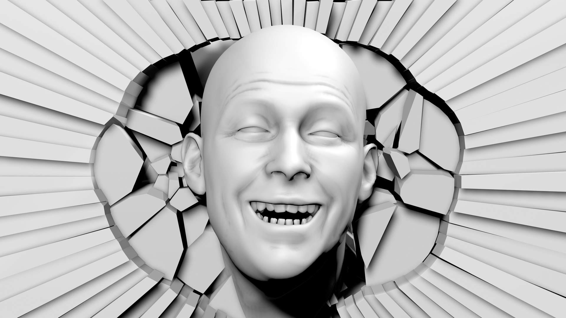 Video Mapping Loops Head Shock