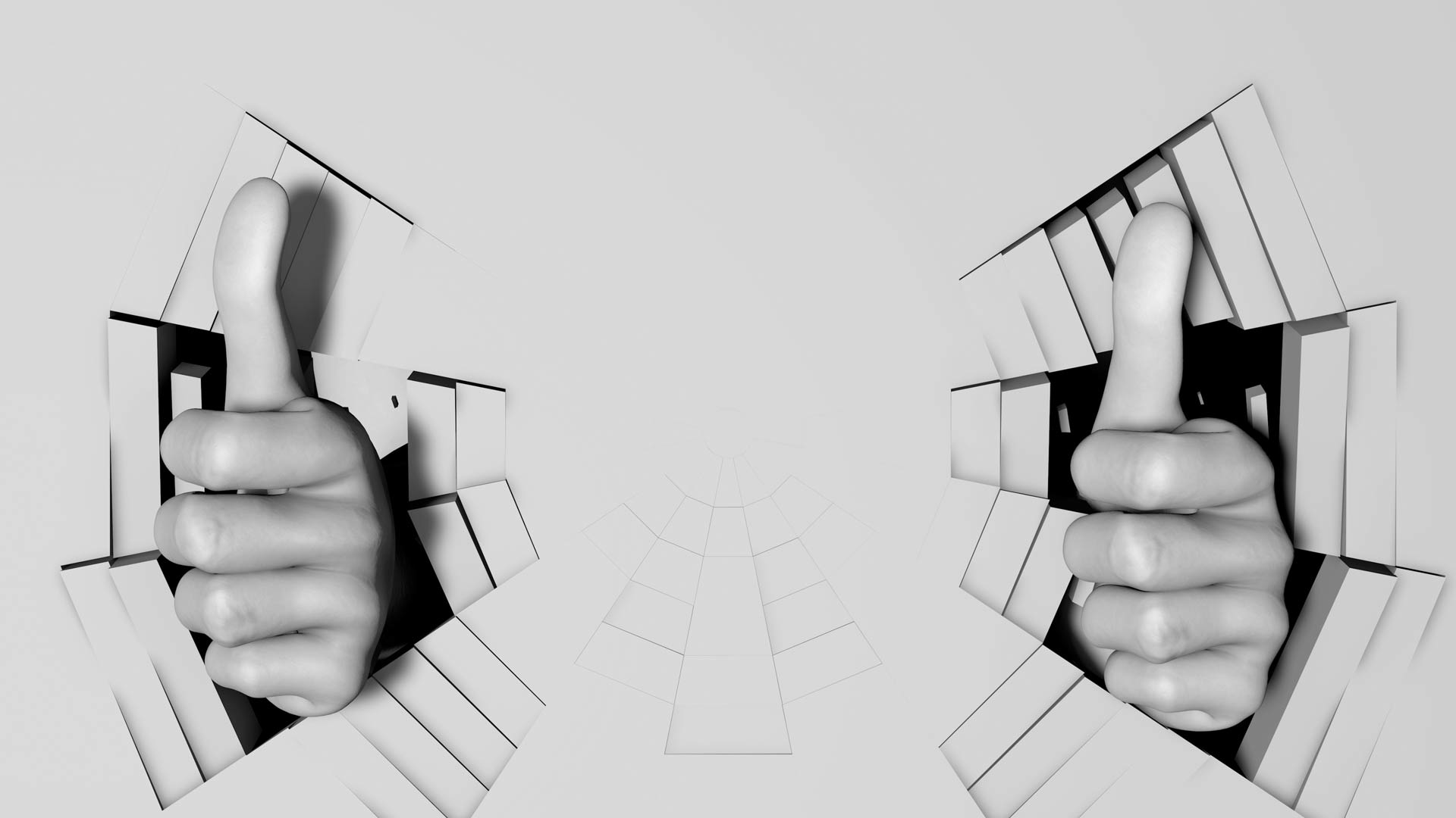 Video Mapping Loops Hand Signs