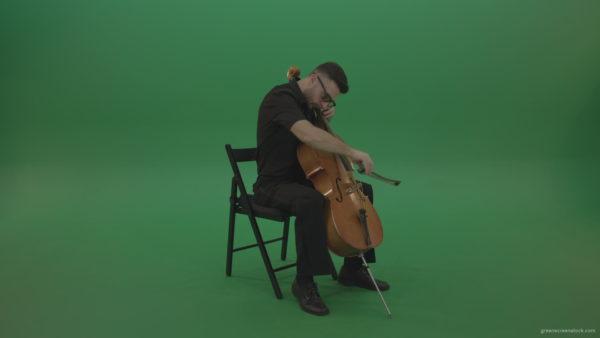 Cello Play Green Screen Footage