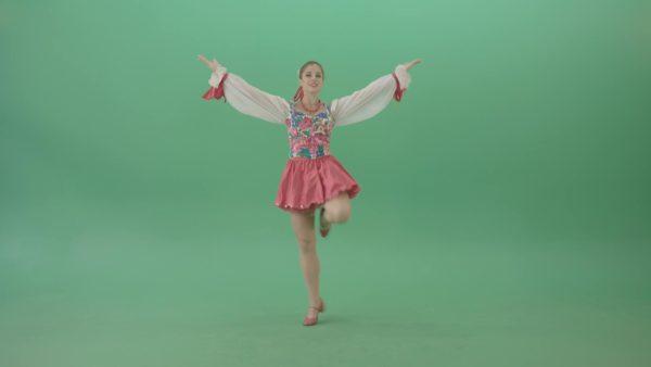 folk dancing man woman on green screen video