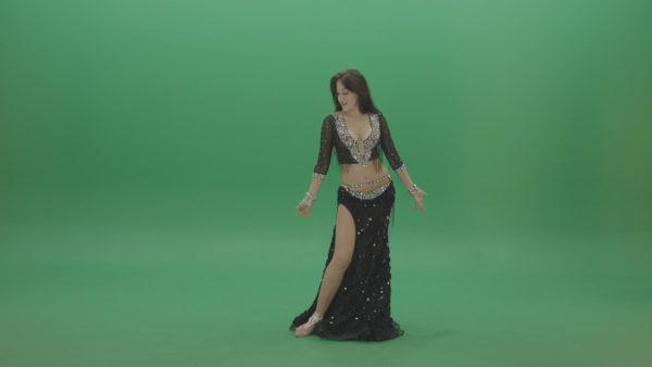 oriental belly dance woman green screen video footage