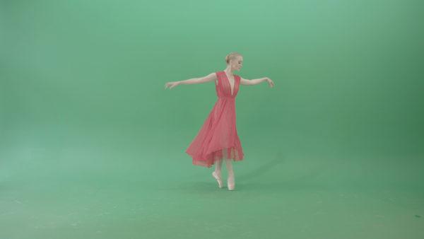 ballet dancing girl ballerina green screen video footage